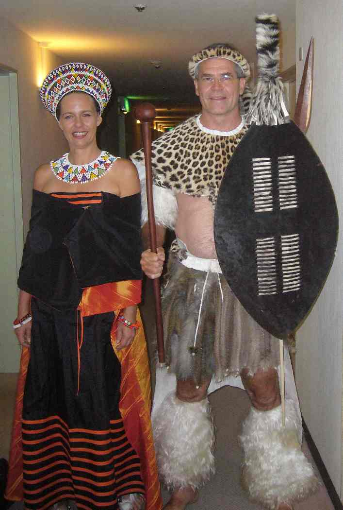 Liesl and Chris in nationalcostume
