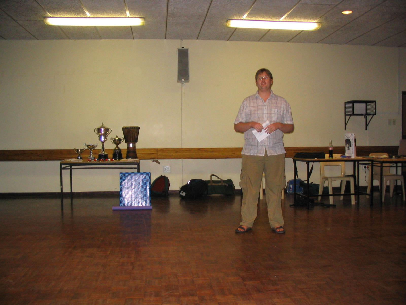Steve at prizegiving