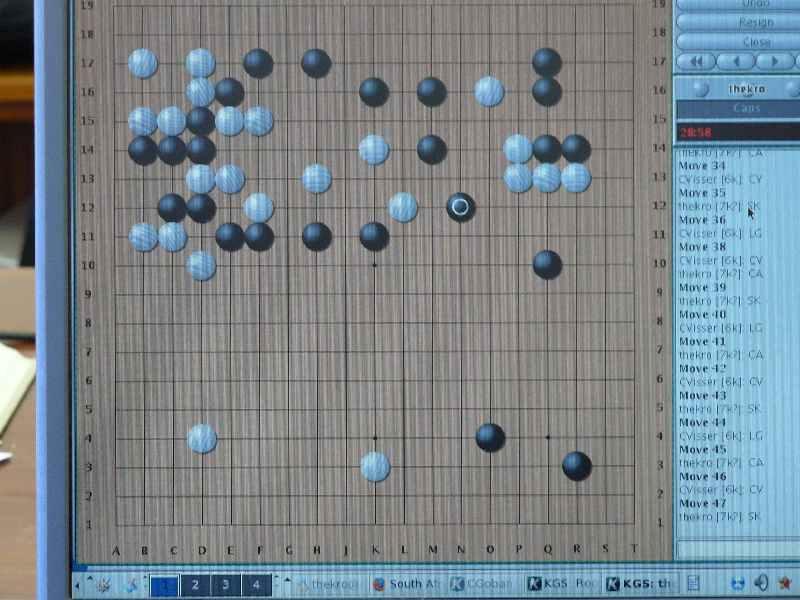 03 Auret & Kroon (white) versus Gini & Visser (black) - middle game1
